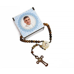 Terço Pe. Léo com Caixa Personalizada